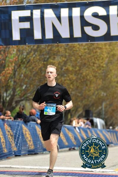 Ian at Marathon Finish Line
